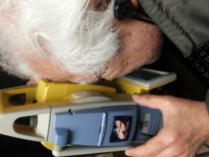 測量機器 検品中