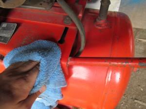 高圧コンプレッサー 清掃