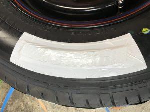 ホワイトマーカー テープ保護