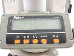 ニコン製の測量機器 計測正常