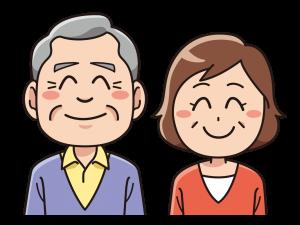 年老いた夫婦