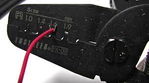圧着工具 端子のハウジング挿入時の不良