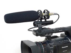 業務用ビデオカメラ 外部マイク