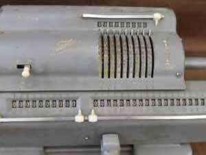 機械式計算機 置き数の確認