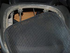 アーロンチェア 座面 交換