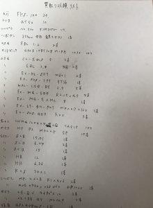 切削工具 手書きリスト1