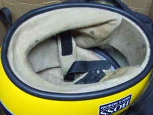 アイルトンセナ ヘルメット 内部汚れ
