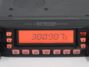 モービル無線機 画面表示 鮮明