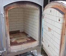 陶芸窯のドア 開閉