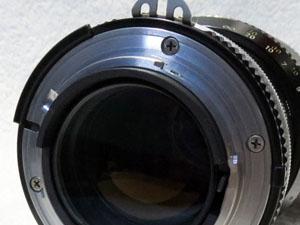 ズームレンズ カメラとの装着部分
