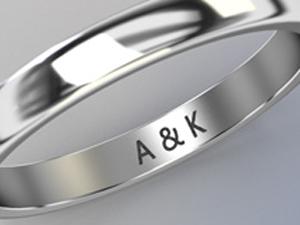 婚約指輪 イニシャル
