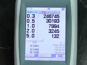 RION リオン 大気環境測定器 画面不具合無し
