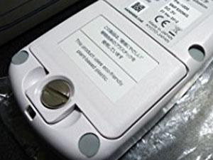 環境放射線モニター 乾電池接触