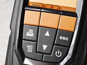 燃焼排ガス分析計 ボタン操作