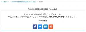 平成30年7月西日本豪雨 寄付