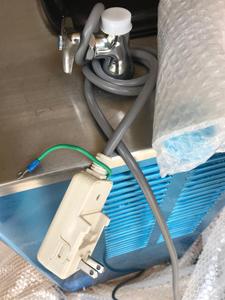 電源プラグ 個別にプチプチで 梱包