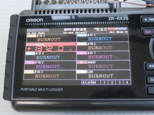 データロガー 液晶画面
