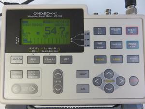 小野測器 振動レベル計 操作パネル