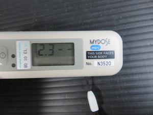 日立アロカ HITACHI ALOKA 電子ポケット線量計 通電の確認