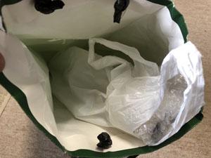 篠笛 梱包 紙袋 隙間 丸めた新聞 詰める