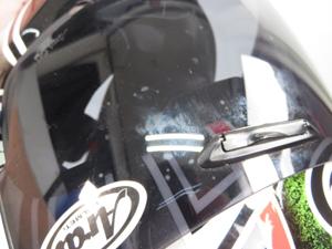 アライ ヘルメット 表面にキズ