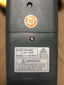 クランプメーター 電池 バッテリー 不具合