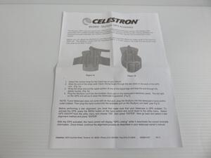 セレストロン CELESTRON 天体望遠鏡 赤道儀 SkySync GPS 取扱説明書