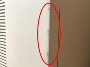 打痕 塗装 剥げた跡
