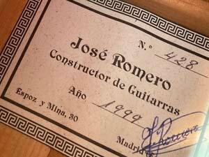フラメンコギター 規格 サイン